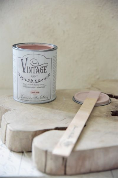faded rose vintage paint