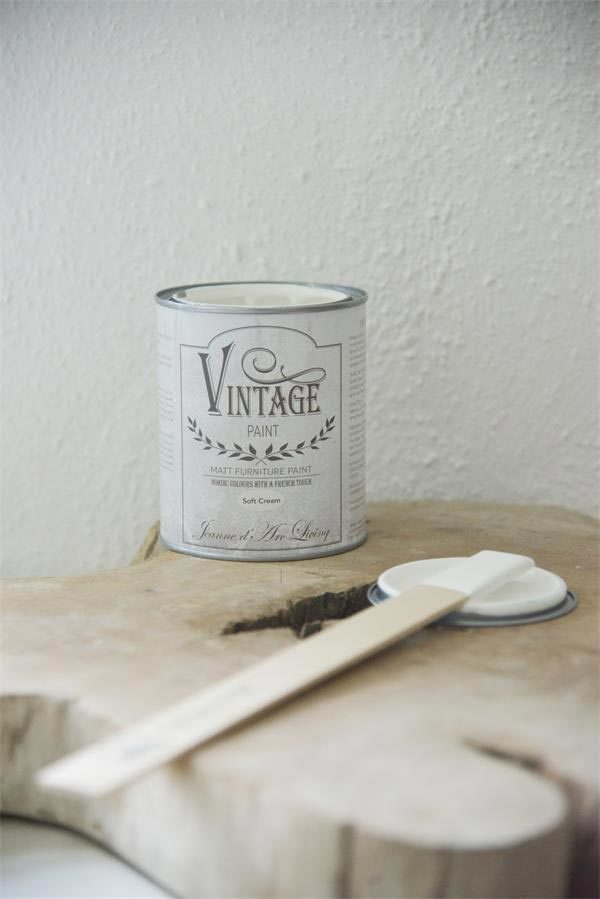 vintage chalk paint soft cream vernici shabby