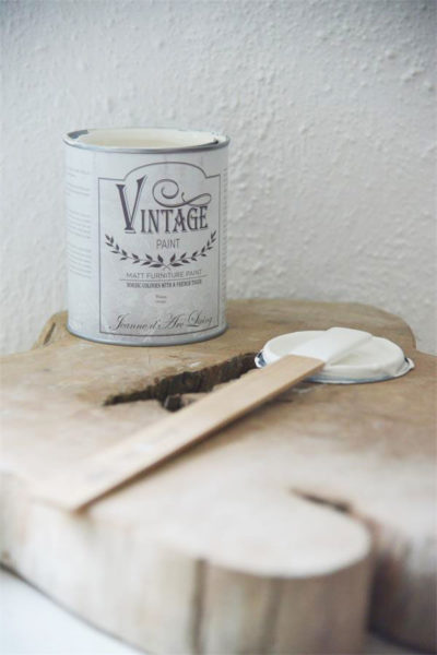 vintage chalk paint warm cream vernici shabby