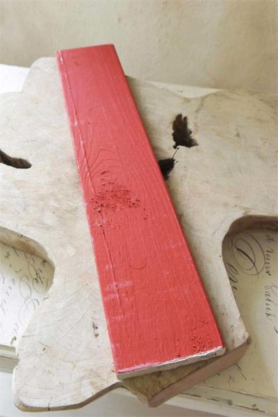 vintage chalk paint warm red primario vernici shabby