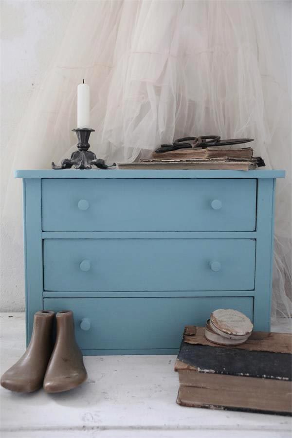 vintage Chalk paint dusty blue vernici shabby