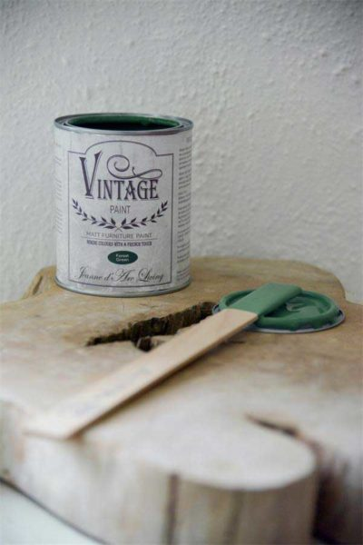 vintage chalk paint forest green vernici shabby