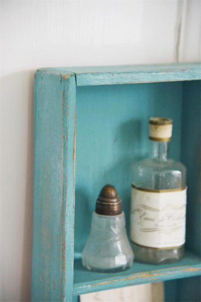 vintage chalk paint old turquoise