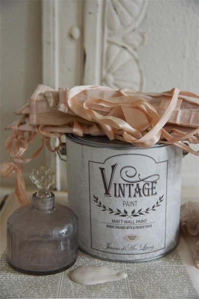 Vintage paint antique rose vernici shabby