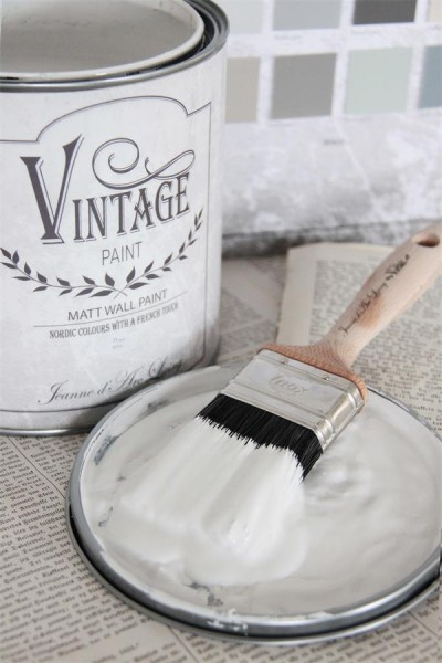 Vintage paint pearl grey vernici shabby