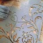 "Stencil Vintage Paint ""Fiore ad Angolo"""