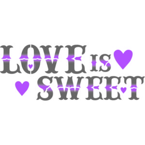 Stamperia stencil love is sweet