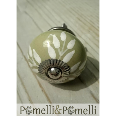 pomello shabby chic in ceramica