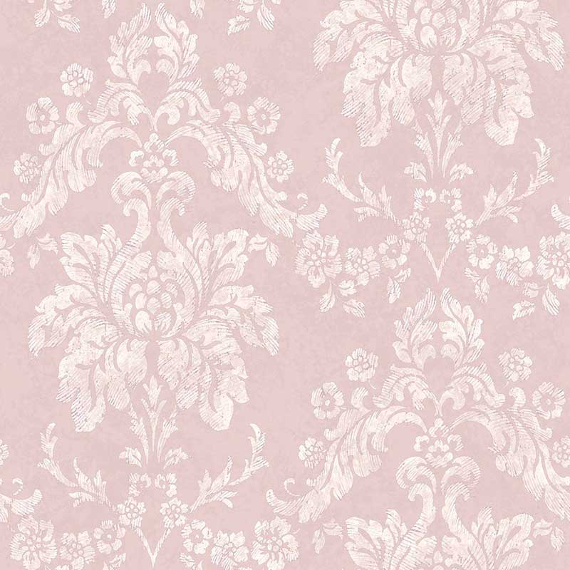 Carta da parati luxury damascato rose vernici shabby for Carte da parati decorative