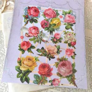 "Decorazione in carta""Mixed Rose"" 12 pezzi Vintage Paint"