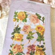 "Decorazione in carta""Yellow Rose"" 7 pezzi Vintage Paint"