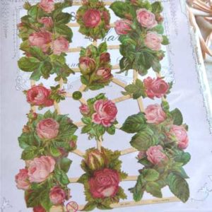 "Decorazione in carta""Red Rose"" 10 pezzi Vintage Paint"