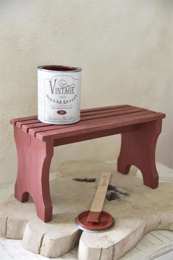 vintage Paint Rusty Red vernici shabby chalk paint