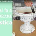 Coloriamo la plastica con la Vintage Chalk Paint
