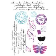 Stamperia Stencil Medio Post card vernici shabby