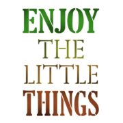 Stamperia Stencil medio Enjoy the little things vernici shabby Vintage