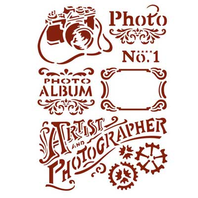 Stamperia Stencil Medio Photo vernici shabby