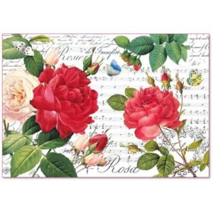 Decoupage grandi superfici - kit 6 fogli 33 x 48 Rose