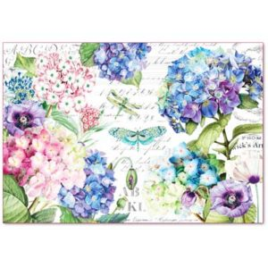 Decoupage grandi superfici - kit 6 fogli 33 x 48 Libellule