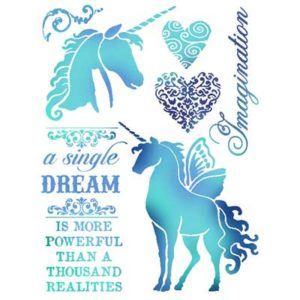 Stamperia Stencil piccolo Dream VERNICI SHABBY