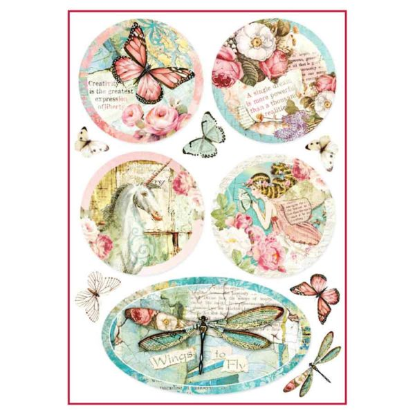Carta di riso per decoupage 21 x 30 Wings