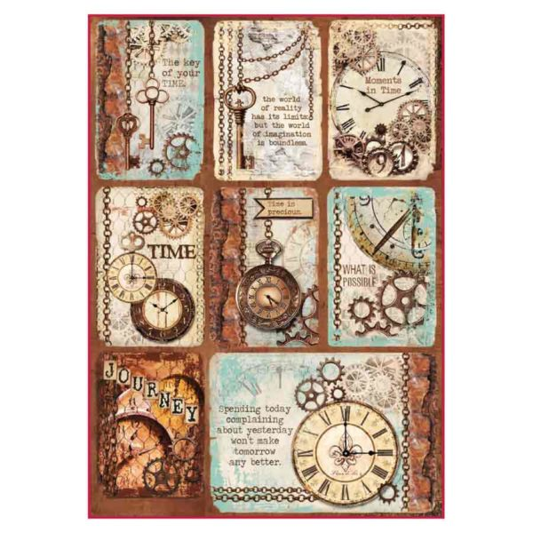 Carta di riso per decoupage 21 x 30 Moments