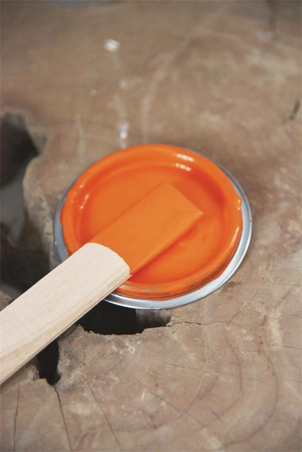 Vintage Chalk Paint Bright Orange vernici shabby