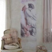 Poster Fallen Angel pink Vintage paint