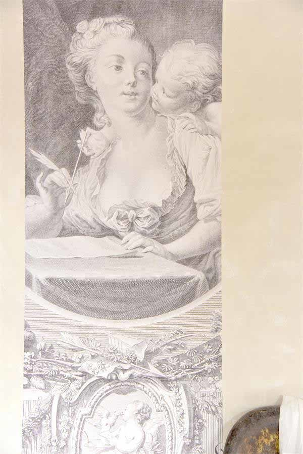Poster Women and Angel Vintage paint vernici shabby