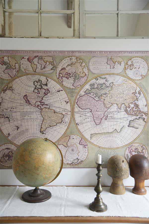 Poster World Map Vintage paint
