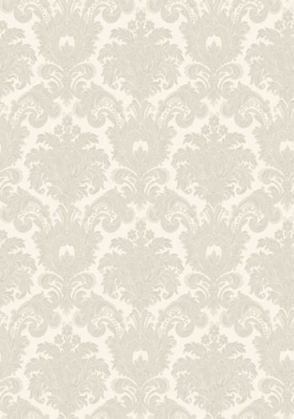 Carta da parati Damascato Light grey