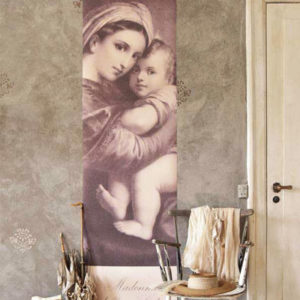 Poster Madonna and child Vintage paint vernici shabby