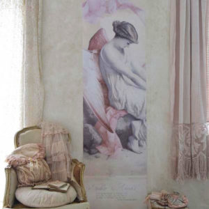 Poster Angel pink Vintage paint