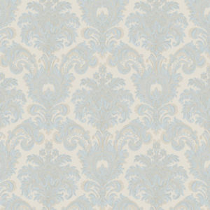 Carta da parati Damascato Light Blue