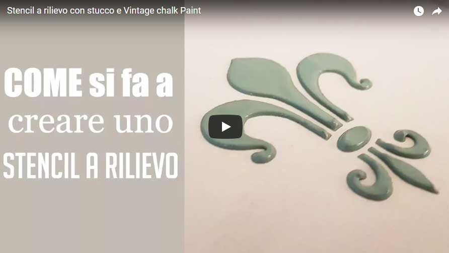 Video tutorial vintage paint vernici shabby