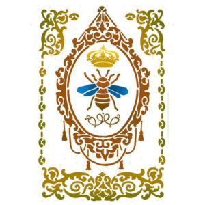 Stamperia Stencil Medio Queen Bee