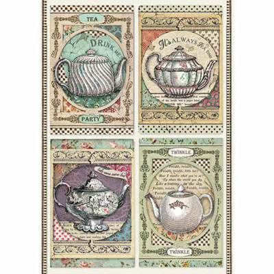 Carta di riso per decoupage Tea Time