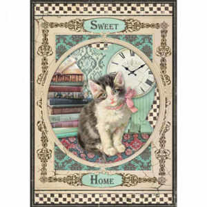 Carta di riso per decoupage Sweet Cat
