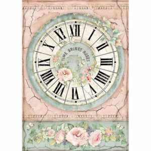 Carta di riso per decoupage Clock