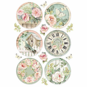 Carta di riso per decoupage Round Clocks